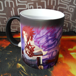 Wholesale Heat Changing - Naruto Sasuke vs Itachi Uchiha Hot Cold Heat Temperature Sensitive Color Changing Coffee Tea Mug Cup best gift for your friends
