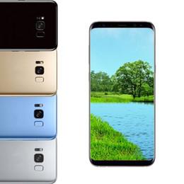 "Wholesale 3g Phones Android Dual Sim - Fingerprint S8 plus Quad core MTK6580 6.2"" 1G RAM 8G ROM 8MP Iris 3G WCDMA unlocked phone Show Fake 4G LTE 1pc"