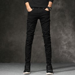 Wholesale Hot Sell Men Jeans - Wholesale Men's Jeans Hot-selling Famous Brand Black jeans Electronic Business Pants for Men