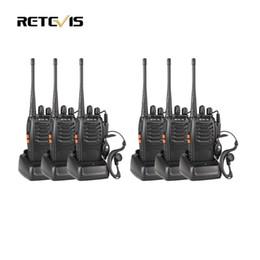 Wholesale Portable Radio Transceiver - Wholesale- 6pcs Walkie Talkie Retevis H777 UHF 400-470MHz Frequency Portable Ham Radio Hf Transceiver Radio Communicator Handy Telsiz A9105