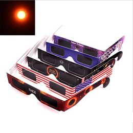 Wholesale 2017 USA Solar Eclipse Glasses Paper Solar Viewing Eyeglasses Protect Your Eyes Safe when th August DHL Free Fast Shipping