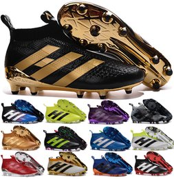 Wholesale Male Boots Brown Leather - Drop shipping ACE 16+ PureControl FG 2017 NEW arrival Men's Soccer Shoes boots cheap Performance Male ace 16 soccer cleats football shoes
