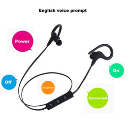 Wholesale Sport Wireless Headphones Usb - Sports Bluetooth Headset 4.1 Wireless Headphones Earphone Ear Hook Auriculares With Mic For Smartphone xiaomi S8 i7