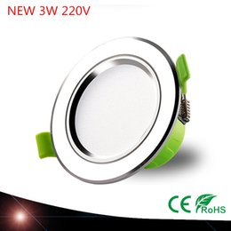 Wholesale Environmental Led - Wholesale- New arrival High quality Environmental protection led downlight 3W Hole 70- 88mm AC220V SMD5730 LED Spot light led ceiling lamp