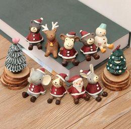Wholesale Christmas Santa Figurines - Christmas Gifts Resin Crafts Santa ornaments Miniatures Figurines Decoration Sant Claus Tree Bear resin craft Toy Christmas Gift KKA3164