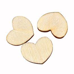 Wholesale Mini Wood Pieces - Wholesale- 100 pcs Mini Wooden Wood Love Heart Pieces Painting Craft Cardmaking Scrapbooking