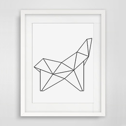 Wholesale Canvas Wall Art Quote - Decorative Poster Geometric Figure Wall Poster Kid'room Decor Quote Canvas Art Print Poster Wall Pictures No Framed