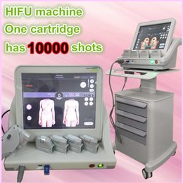 Wholesale Medical Slimming Machines - Medical Grade HIFU High Intensity Focused Ultrasound Hifu Face Lift Machine Wrinkle Removal With 5 Heads Face Body slimming