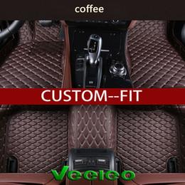 Wholesale A3 Leather - Veeleo+ Custom Fit -6 Colors Leather Car Floor Mats for Audi A1 A3 A4 B8 B7 B6 B5 A6 C6 C7 A8 A8L Q3 Q5 Q7 Series Waterproof 3D Car Mats
