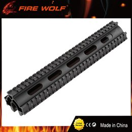 Wholesale compatible systems - FIRE WOLF One-Piece Design Quick Fit Metal Tactical Tri-rail Handguard System for G3 and Compatibles PTR-91