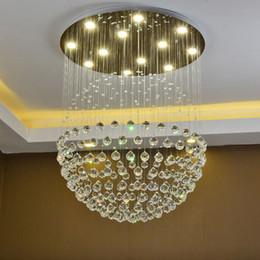 2019 palla di colpo New Modern LED K9 Lampadari di cristallo palla di cristallo sala da pranzo luce lampadario in vetro soffiato lampadario di cristallo rustico palla di colpo economici