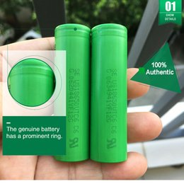 2019 3.7v batería de iones de litio aa Baterías recargables 100% auténticas de Sony VTC6 3000MAH 30A 18650 Baterías altas del drenaje contra VTC5 VTC4 VTC5A para Ecig vw Mod Fedex Envío libre