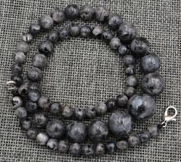 Wholesale Genuine Labradorite - Genuine Graduated 6-14mm Indiana natural Labradorite gem necklace 18