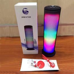 drahtlose led-anzeigen Rabatt JHW-V169 Musik Lautsprecher Bluetooth Wireless LED Licht Display 3.0 ESR Stereo Lautsprecher Outdoor Lautsprecher MIS132