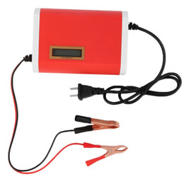 Wholesale 12 24v Power Supply - 12-24V 10A Digital LCD Car Battery Charger Lead-Acid Motorcycle Power supply charger