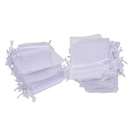 100pcs lot 7x9cm 9x12cm White Organza Jewelry Gift Pouch drawstring Bags For Wedding favors,beads,jewelry