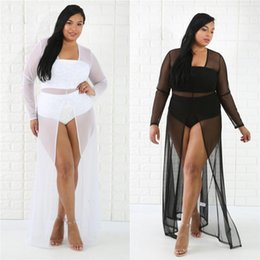 Wholesale Black Sheer Maxi Skirt - Women MESH COVERUP Sexy Sheer Mesh Maxi Dress Skirt Black And White GREEK GODDESS COVER UP