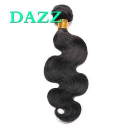Wholesale Wavy Remy Human Hair Extensions - DAZZ Body Wave Hair 4 Bundles Deals Mink Brazilian Virgin Hair Body Wave Weave Bundles Natural Remy Wet And Wavy Human Hair Extensions