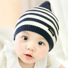 Wholesale Knit Winter Hats Baby - 2017 Fashion New Styles Children Skullies & Beanies Hat Crochet Baby Boys Girls Knitted kids Winter Hat Free shipping