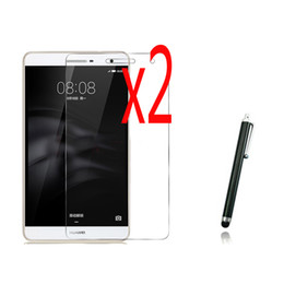 Wholesale Mediapad Youth - Wholesale- 3in1 2x Clear LCD Screen Protector Films Protective Film Guards +1x Stylus For Huawei Mediapad T2 7.0 Youth Pro M2 Lite PLE-703L