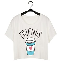 Wholesale Ice Cream T Shirts - Best Friend Summer Casual T-shirt Women Round Neck White Tees Ladies Ice Cream Print Fashion Tops Short Sleeve