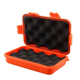 Wholesale Under Pressure - 13*8*4CM Outdoor Camping Shockproof Anti-pressure Waterproof Airtight Survival Storage Case Container Carry Box Outdoor Gadgets Tool