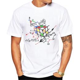 Wholesale Work Shirts Xxl - Camping Hiking T-Shirts New Fashion Math Work Design Men T-shirt Short Sleeve Hipster Tops Rubik cube Printed t shirts Cool tee