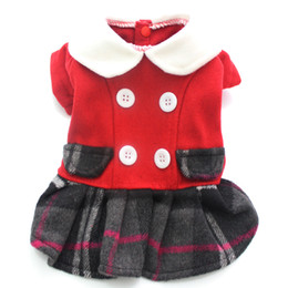 pet jackets princess NZ - New arrival Princess Dog Plaid warm dog Coat Jacket Buttons design,pet puppy hoody clothes,4 sizes