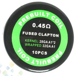 Vendre des cigarettes électroniques en Ligne-Cigarette électronique en fil de résistance, préfabriquée, clapton, fusionnée, 0.45ohm, 28GA * 2 + 32GA vendu par PC Heating Wire DHL Free