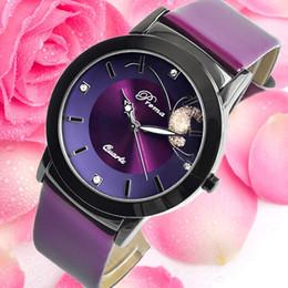 2017 новый PREMA женская мода часы женский кожаный ремешок кварцевые часы дамы фиолетовый бабочка часы от