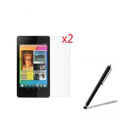 "Wholesale Stylus Pen For Nexus - Wholesale- 3in1 2x LCD Clear Screen Protector Films Protective Film Guards +1x Stylus Pen For Google Nexus 7 II 2nd 2gen 2013 7"" Tablet"