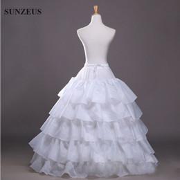 Wholesale Bridal Princess Petticoat - 4 Hoops 5 Layers Ruffles Ball Gown Petticoat for Bridal Dress Accessories Princess Wedding  Quinceanera  Prom Dresses Underwear Crinoline