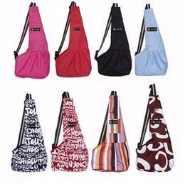 Wholesale Dog Carried - 8 Colors TAILUP Pet Dog Carrying Bag Plush Backpacks Mesh Cloth Puppy Chihuahua Yorkies Small Cat Slings Backpack Pet Supplies CCA6668 35pcs