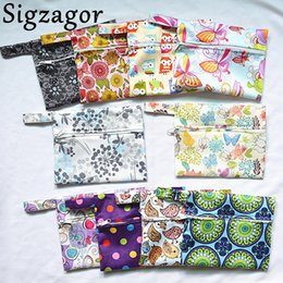 Wholesale Wet Cups - [Sigzagor]Small Mini Wet Bag Reusable for Mama Cloth Sanitary Menstrual Maternity Pad,Tampon,Cup Bib,Buyer PICK,29 Designs