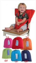 2019 salida de las correas NUEVO 6 Color bebé portátil Seat Cover Sack'n Kids Safety Seat Cover Baby Upgrate Candy colores Eat Chair Cinturón de seguridad Outlet cubre JC315