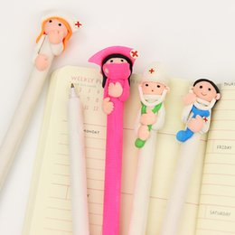 Wholesale Doctor Office Supply - Cute Cartoon Doctor Nurse Ballpoint Pen Polymer Caly Ball Point Pens for Writing Stationery School Office Supplies