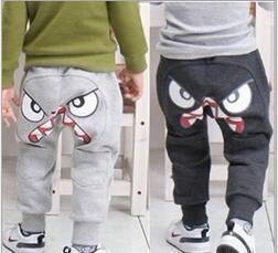 Wholesale Eyes Pants - Girls Boy Clothing Spring   Autumn Clothes Face Sport Trousers Big Eyes Pants Trousers 5 pieces lot