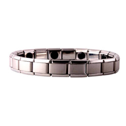 Wholesale Top Asian Jewelry Wholesale - Fashion Silver Plated Health Magnetic Bracelet For Women Top Quality Stainless Steel Magnet Bracelets & Bangle link Chain Jewelry Wholesale