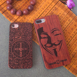 Wholesale Low Prices For Cell Phones - New Style Low Price Cell Phone Case For Iphone 7 plus Wood Phone Cases Custom Wooden TPU Hard Cover For Apple 6 6s plus