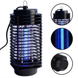 Wholesale Wholesale Bug Zappers - Electronic Mosquito Killer, Electronic Insect Killer Bug Zapper Trap Photocatalyst Fly Zapper UV Night light Trap Lamp 110V 220V