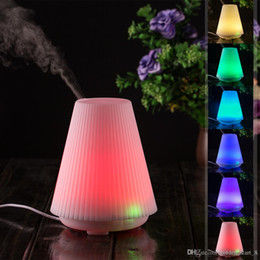 Wholesale Changing Keyboard Settings - 100ML LED Light time-setting 7 Color Change Oil Aroma Diffuser Dry Protect Air Humidifier Mist Maker for Home