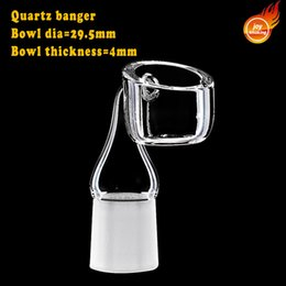 Wholesale Nail Hold - High Air Flow 4mm Thick Bigger Bowl Quartz Banger Nail With Male& Female Frosted Joint Holding Heat Much Longer
