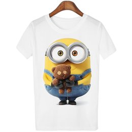 Wholesale Despicable Shirts - THE cotton Despicable Me Series three printed women comfortable tshirt casual women's t shirt o-neck women tops tee shirts