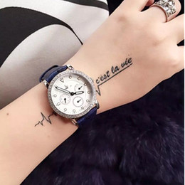 Wholesale Multi Function Drill - Luxury brands beauty essential! 316 fine steel watchcase inlaid with SWAROVSKI crystal drill imported quartz multi function movement importe