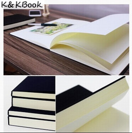 Wholesale Book Blank Pages - Wholesale- K&KBOOK Vintage Dowling Paper Blank Pages Sketch Book Stationery Diary Book Student Gift Notebook Free Shipping