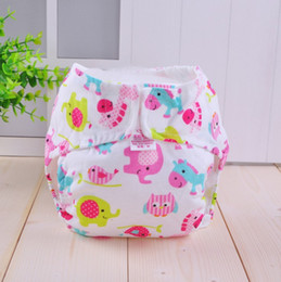 Wholesale Magic Baby Diapers - Baby Cloth Diaper Cover Washable Baby Nappy Stripe Cartoon Print Reusable Baby Diapers Nappy Couche Lavable