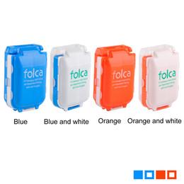 Wholesale medicine plastic - Portable Pill Case Medicine Storage Box 8 Compartments Makeup Storage Case Container Case Plastic Pill Cases & Splitters 0615006
