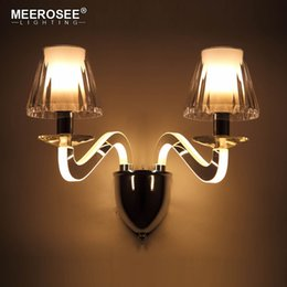 Wholesale Contemporary Glass Lamps - Creative Wall Light LED Bedside Wall Lamp Bedroom Glass Sconces Aisle Corridor LED Bracket Wall Lighting