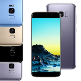 Wholesale Goophone Free Shipping - Goophone S8 Fingeprint Quad core MTK6580 real 1gb 8gb show fake 1gb 32gb unlocked mental unlocked phone free shipping