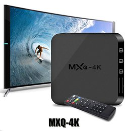 Wholesale Android Streaming Player - MXQ 4K RK3229 Quad Core Android TV Box Wifi 1G 8G 10Bit 60ftps Vedio Decoder 1080P HD Streaming Media Player TV Boxes